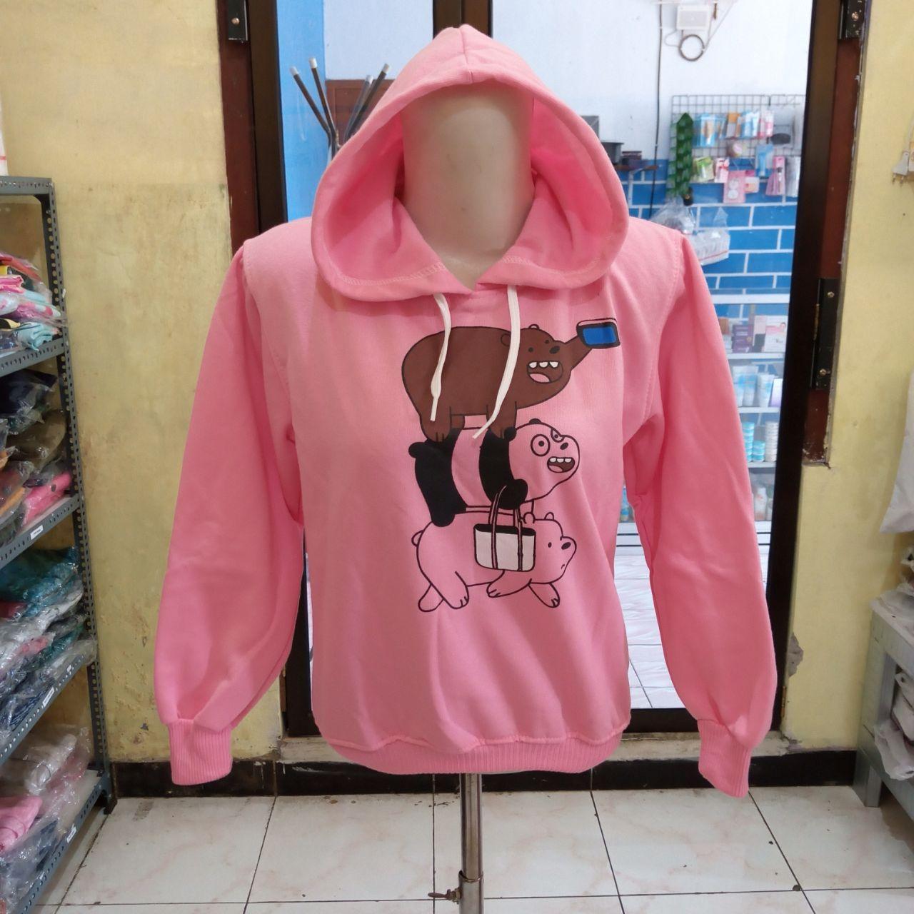 ini adalah Jaket Anak 3 Bear Pink, size: LD +- 78cm, material: Fleece, color: Pink, brand: Jaket Anak Indonesia, age_group: kids, gender: unisex