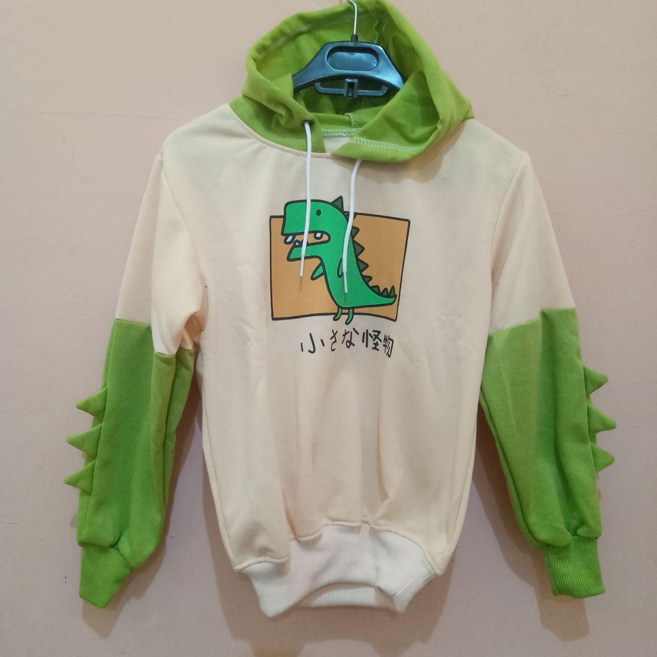 ini adalah Jaket Anak Dinosaurus Cream, size: LD +- 78cm, material: Fleece, color: Cream, brand: Jaket Anak Indonesia, age_group: kids, gender: unisex