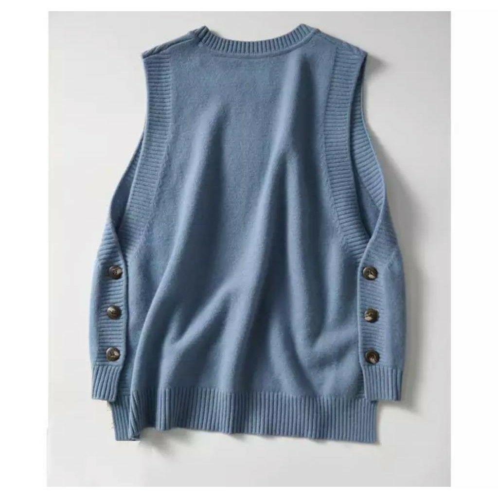 ini adalah Rajut Rompi Tia Denim, size: L, material: knit, color: blue denim, brand: vestknittindonesia, age_group: all ages, gender: female