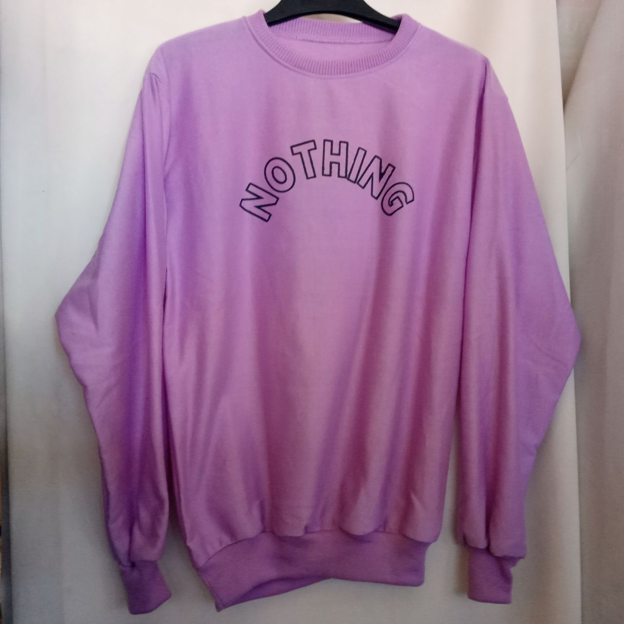 ini adalah Sweater Nothing Lilac, size: LD 90cm, Panjang 60cm, material: Fleece, color: purple, brand: jaketindonesia, age_group: all ages, gender: unisex