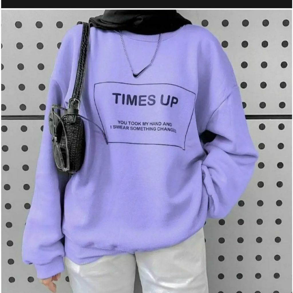 ini adalah Sweater Time Lilac, size: LD 90cm, Panjang 60cm, material: Fleece, color: purple, brand: jaketindonesia, age_group: all ages, gender: unisex