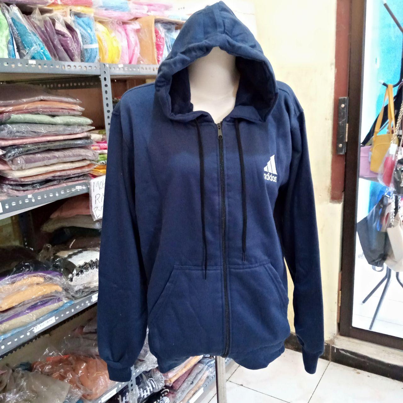 ini adalah Jaket Zipneo Navy, size: LD 90cm, Panjang 60cm, material: Fleece, color: Nevy, brand: jaketindonesia, age_group: all ages, gender: unisex