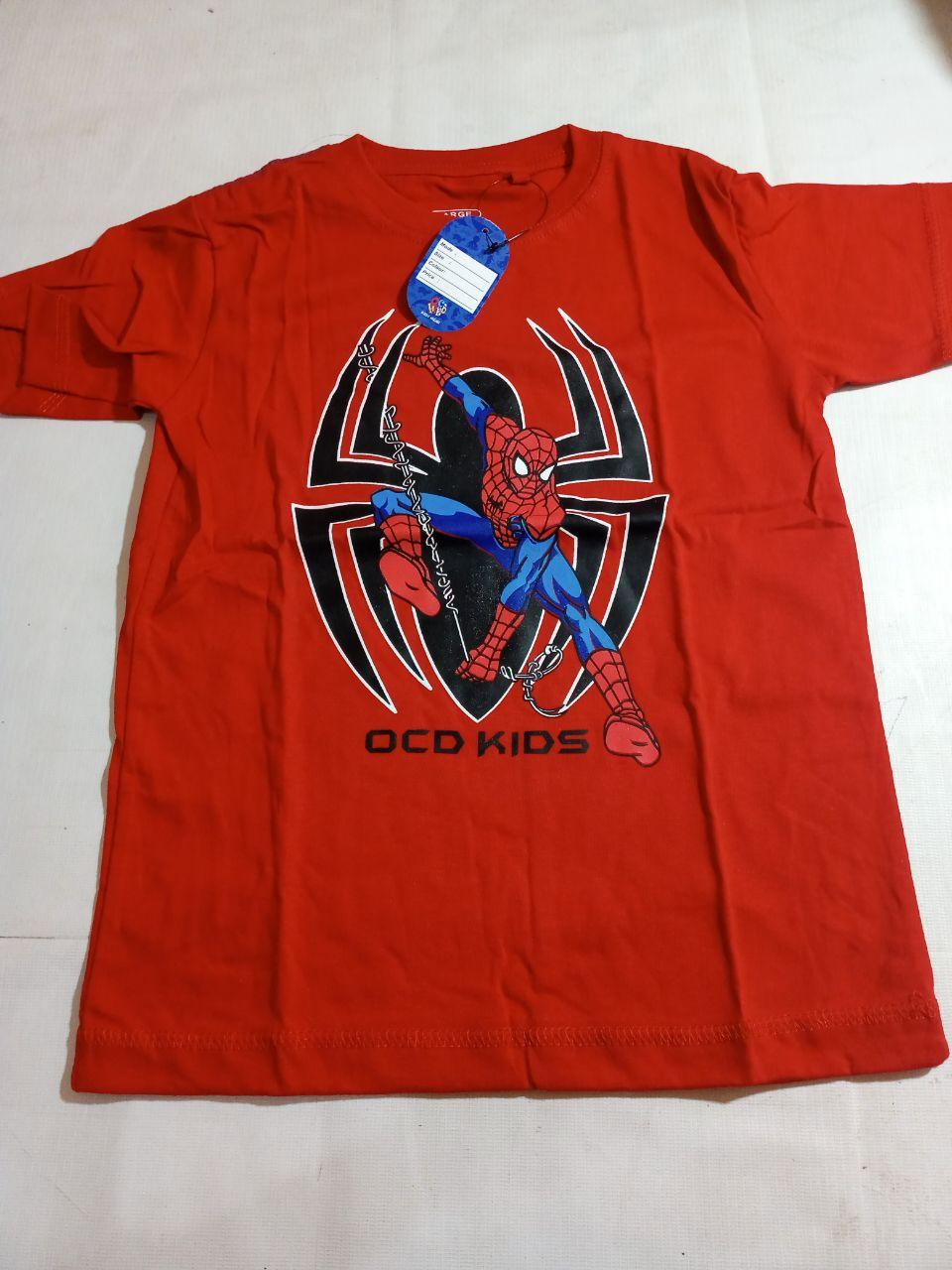 ini adalah Kaos Anak Karakter L, size: LD 61 cm x panjang 48 cm, material: Cotton soft spandex, color: red, brand: Bajuanakindonesia, age_group: kids, gender: male