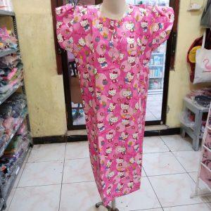 ini adalah Daster Kajep Hk Bola, size: P95cmxLD104cm, material: cotton, color: Pink, brand: Bajuwanitaindonesia, age_group: all ages, gender: female
